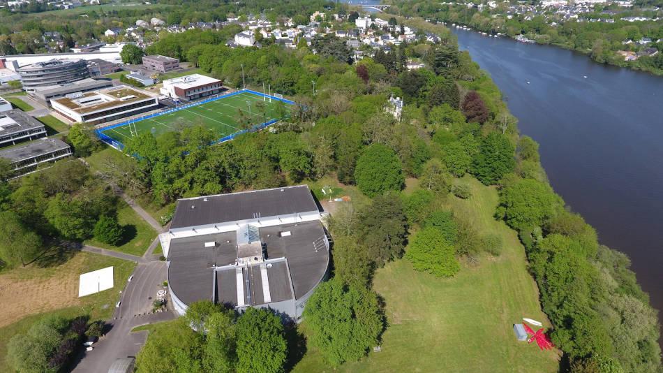 Vue drone du campus de Centrale Nantes